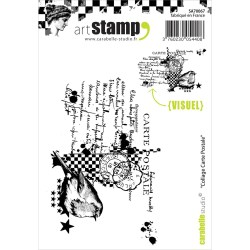 Small Crop Of Post Card Stamp
