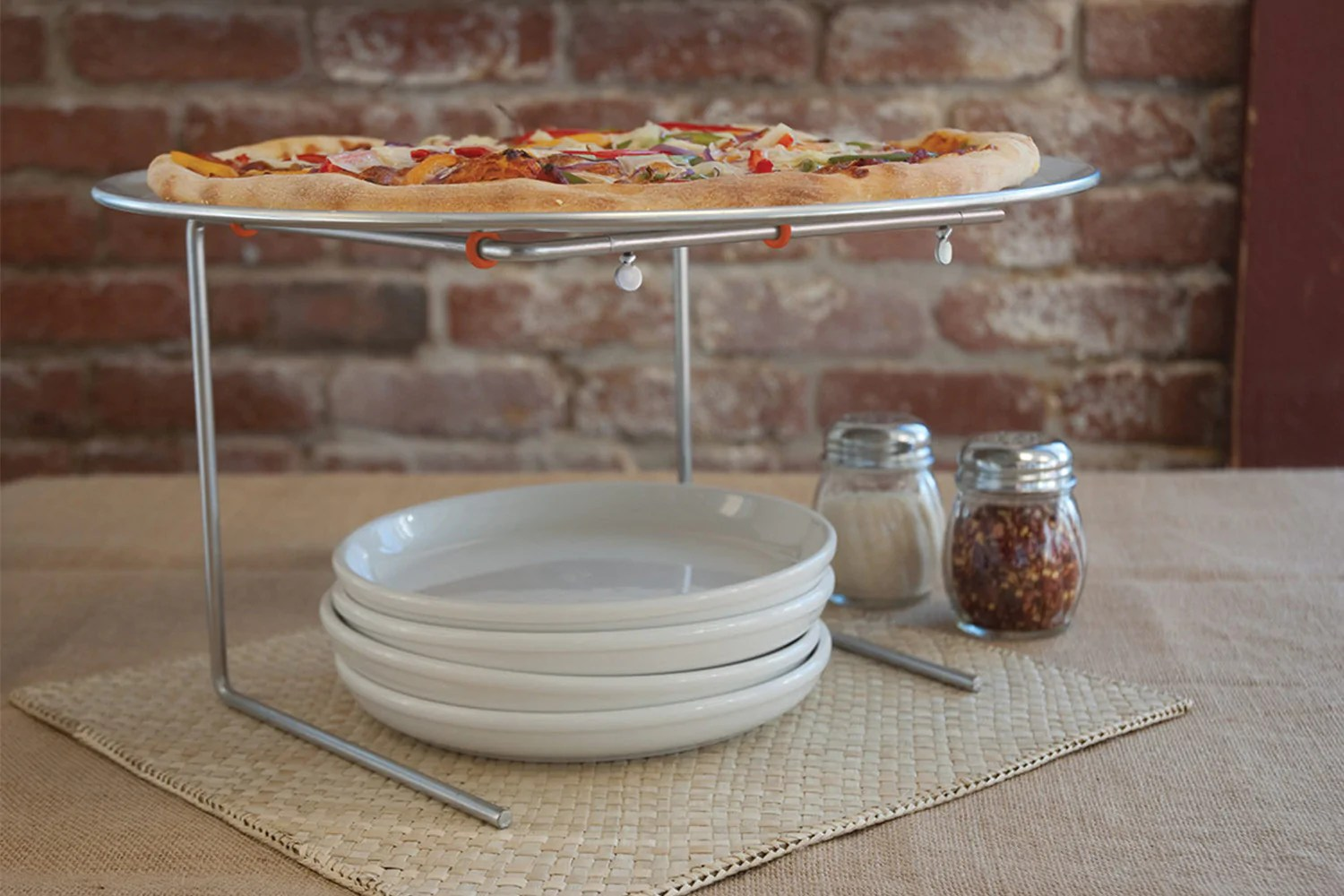 Pizzastand Oven Wire Pizza Stand With Aluminum Pizza Pan Pizzacraft