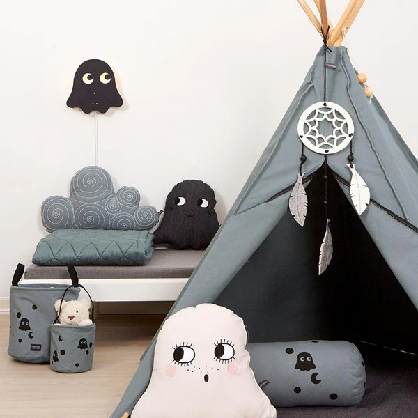 Kinderbettwäsche Tipi Tipi Hippie Sea Grey – Roommate