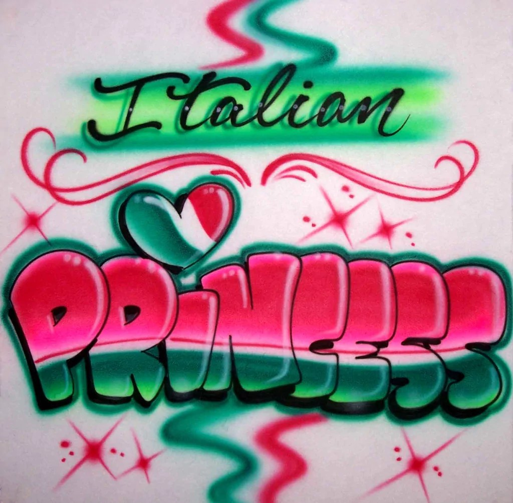 Italian Design Gifts Custom Airbrushed Shirts Personalized Gifts And Party Services