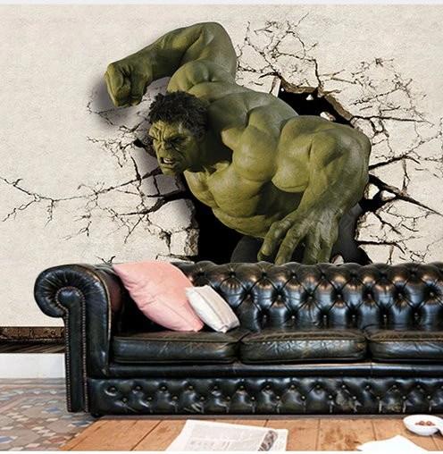 3d Hulk Superhero Wallpaper For Walls Wall Mural