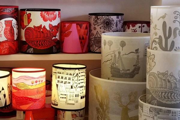 Pink Animal Wallpaper Lampshades Lush Designs