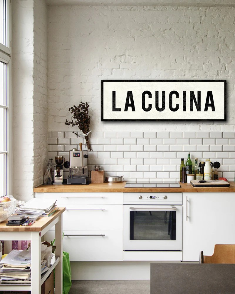 Kitchen Decor La Cucina Sign Italian Kitchen Decor