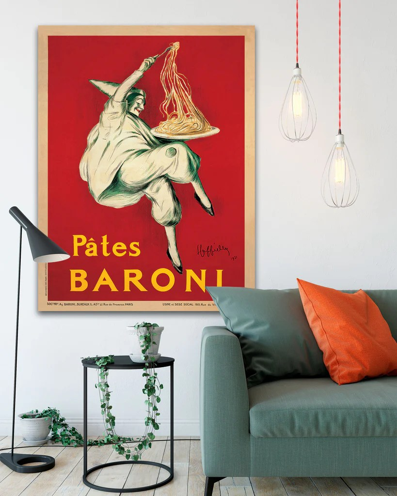 Pates Baroni Poster By Leonetto Cappiell Vintage Poster Art On Canvas Transit Design