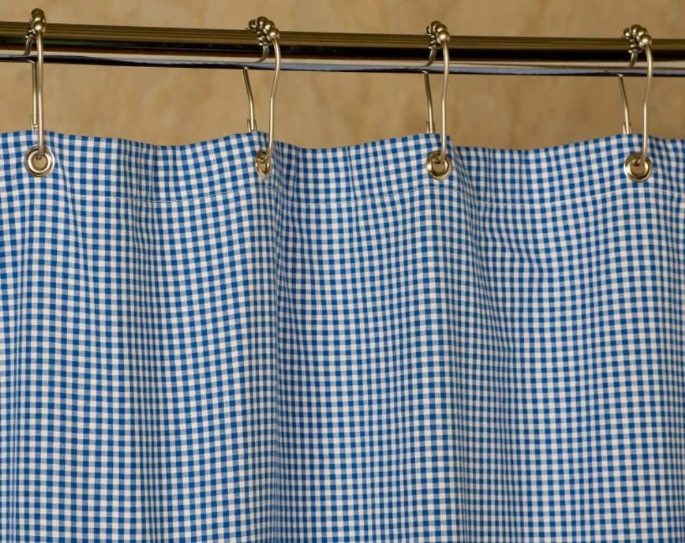 Grey And White Gingham Curtains Gingham Shower Curtain Blue And White 72x72