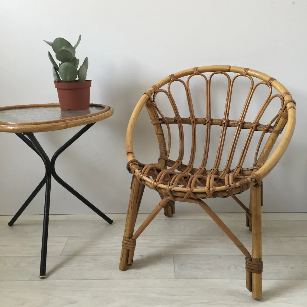Fauteuils Coquille Vintage Rattan Full Wicker Kid S Chair Fauteuil Coquille Rotin Enfant Vintage Free Delivery Uk Livraison Gratuite France