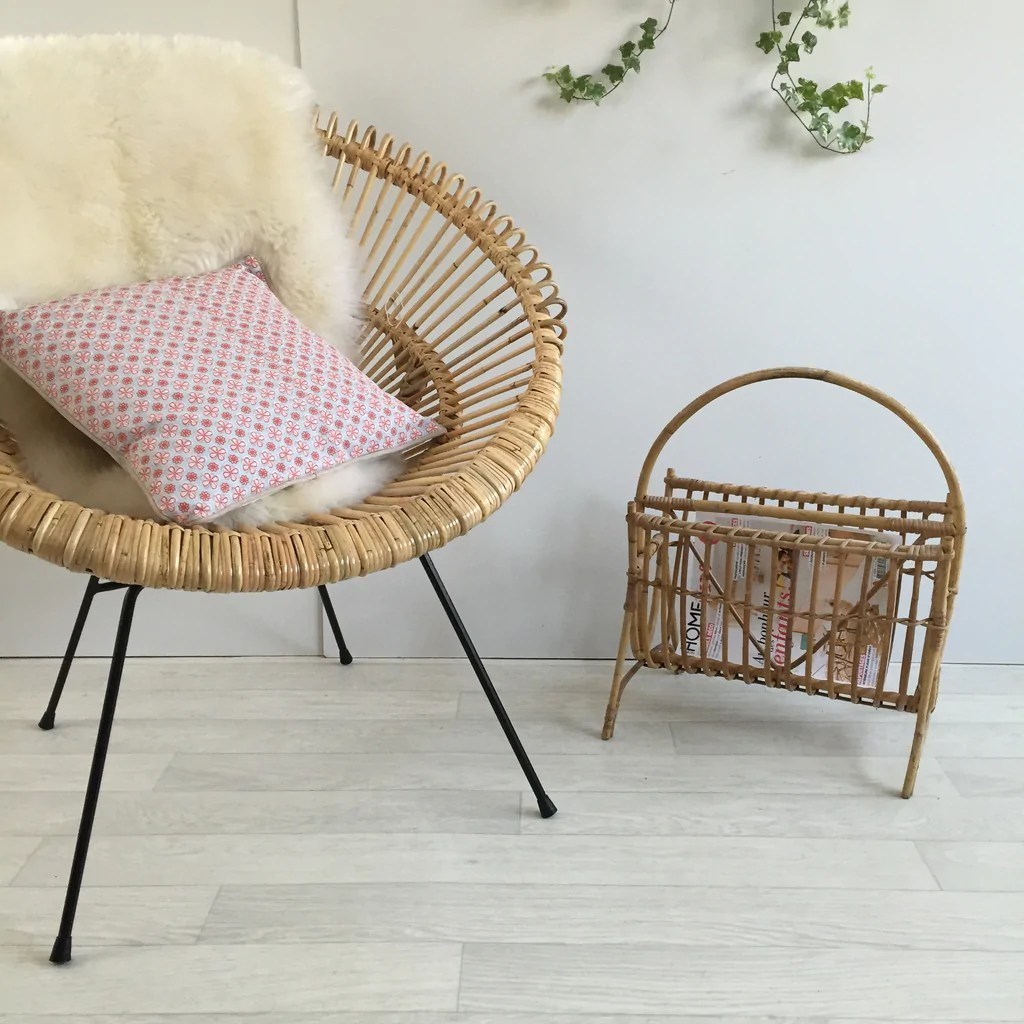 Petits Fauteuils Beige Franco Albini Janine Abraham Attributed Wicker Rattan Chair