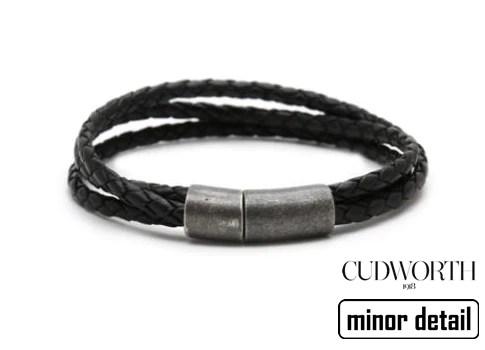 Triple Cord Black Leather Bracelet Minor Detail