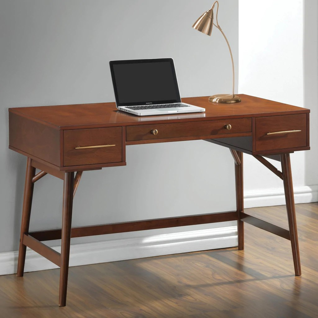 Desks With Drawers Ct800744 Walnut Writing Desk With Drawers