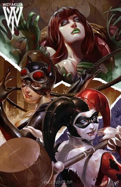 3d Art Street Wallpapers Sirens Of Gotham Wizyakuza Com