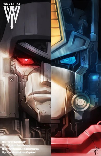 Cybertron Wallpaper Hd Optimus Megatron Split Wizyakuza Com