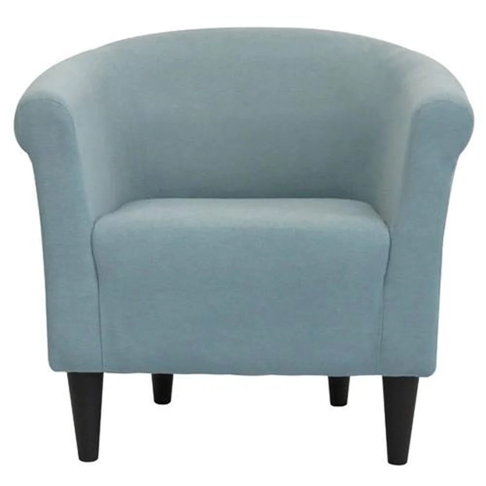 Accent Arm Chairs Contemporary Classic Light Blue Upholstered Accent Arm Chair Club Chair