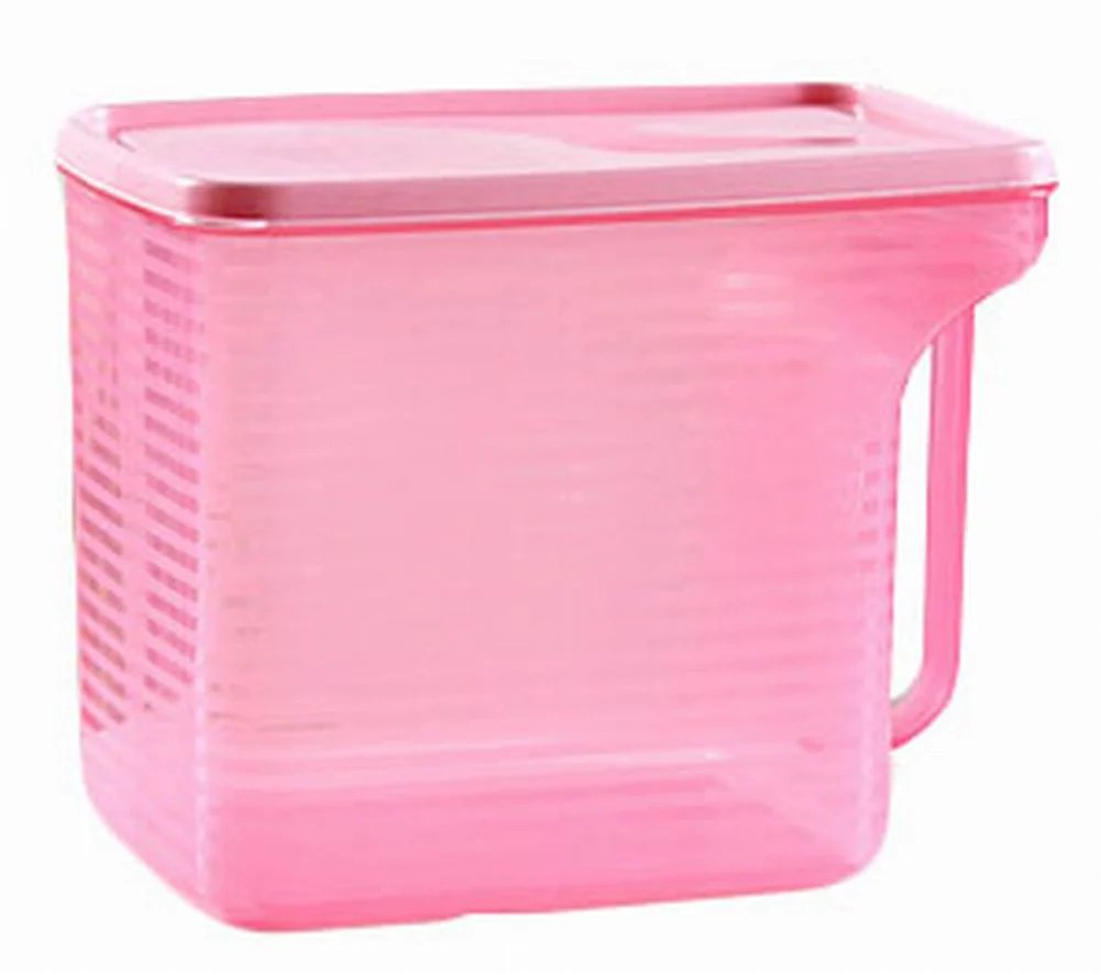Pink Bins Set Of 2 Practical Kitchen Storage Bins Cereals Snacks Storage Canisters Pink