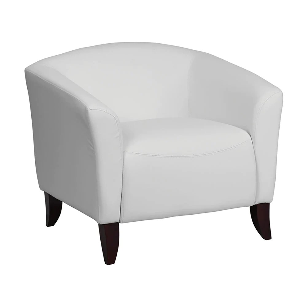 Flash Furniture Hercules Imperial Series White Leather Executive Recep Qolture