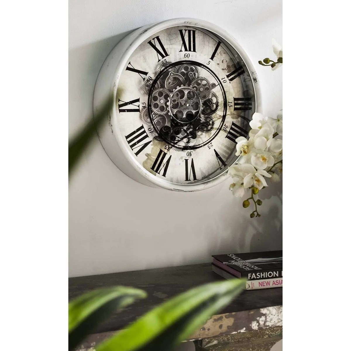 Buy Round Mirror Buy Round Mirror Moving Cogs Wall Clock 50cm Online Oh