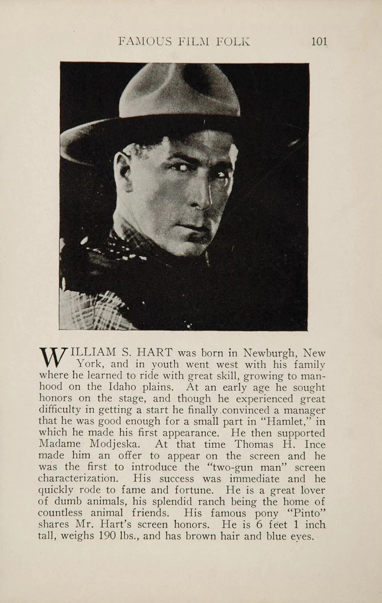 Plante Original 1925 William S Hart Laura La Plante Silent Film Actor Original Historic Image