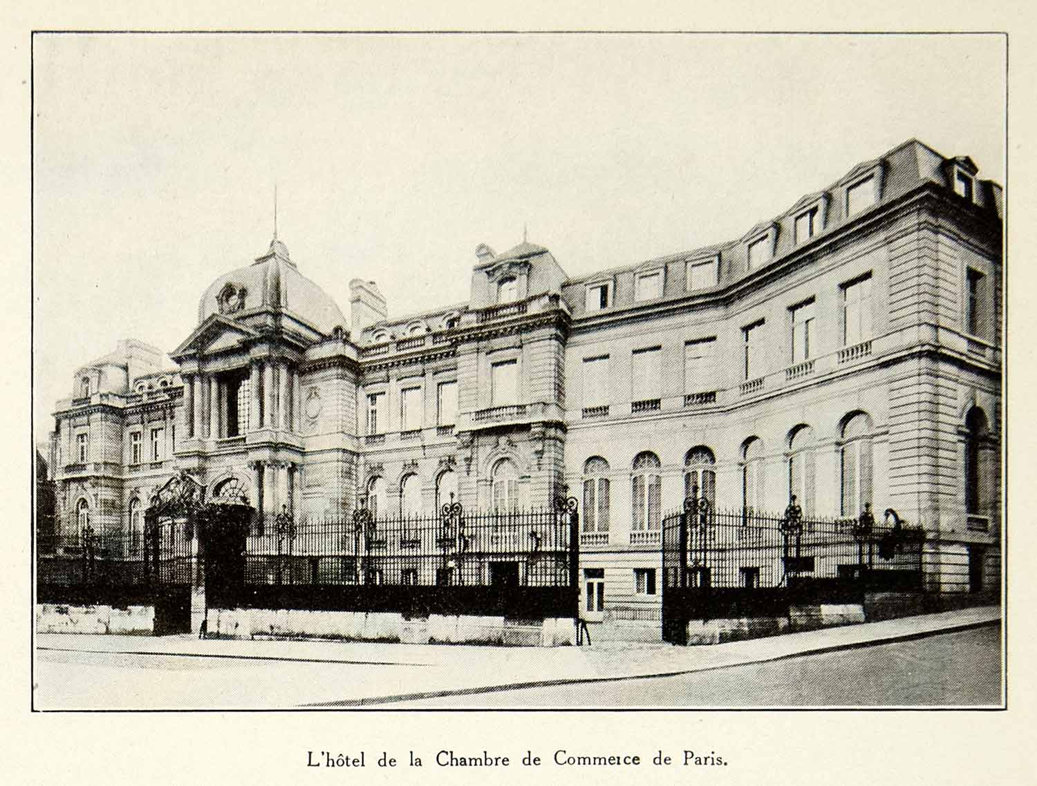 Chambre De Commerce Paris 1930 Print Chamber Commerce Paris Ccip Architecture Historical Landmark Vena3