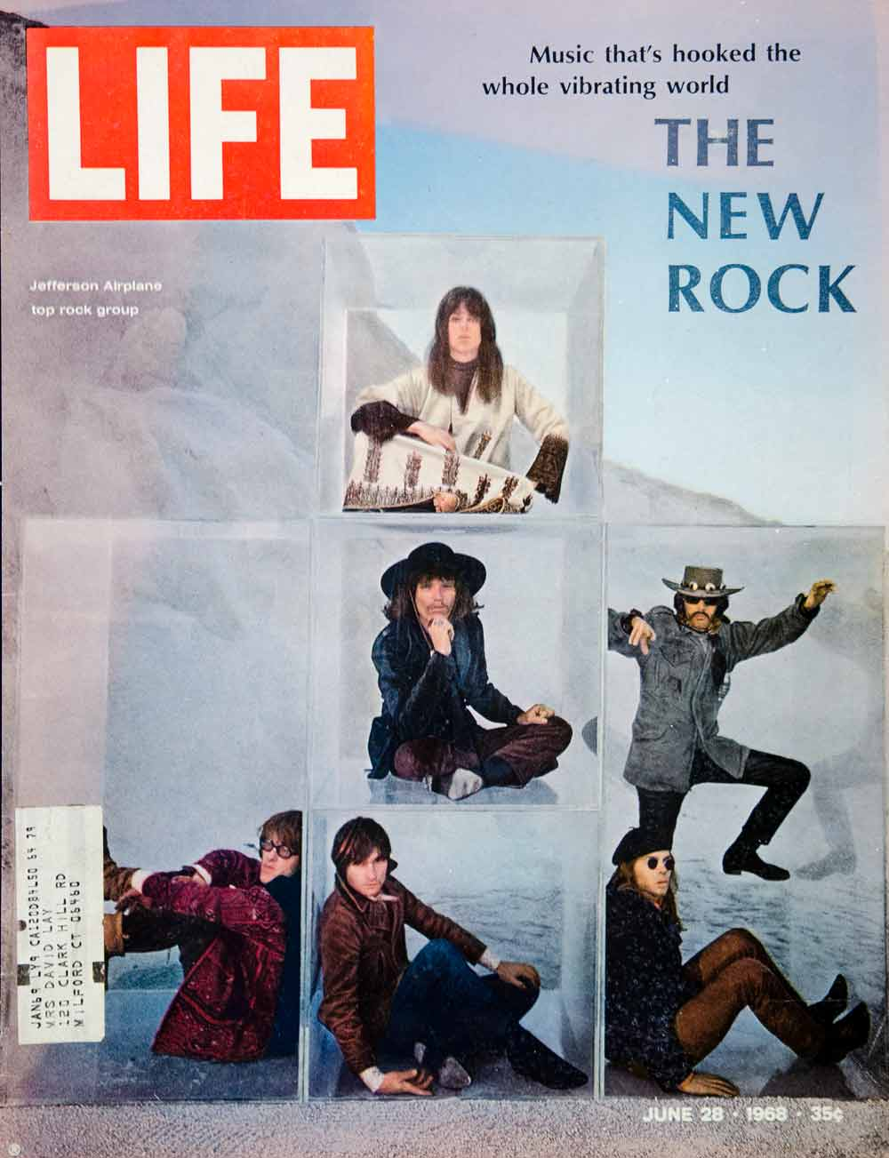 Rock Music Cover 1968 Cover Life Magazine Jefferson Airplane Grace Slick Rock Music Band Ylmc2