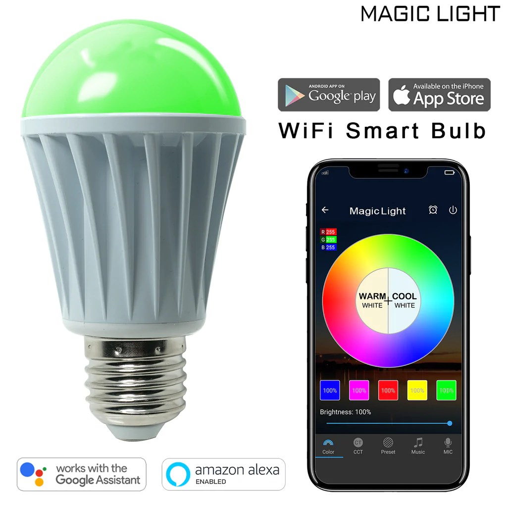 60 E14 Lumen Wifi 60 Watt Smart Light Bulb Multicolor
