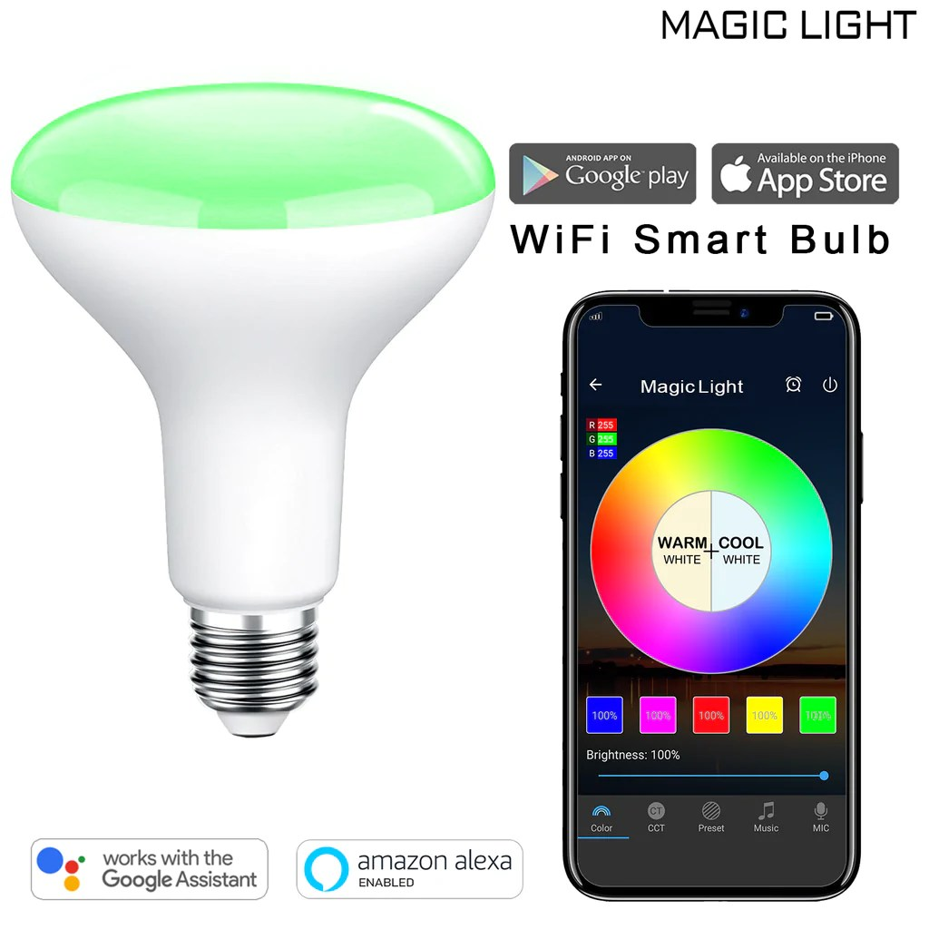 Smart Led Bulb Wifi Br30 Led Flood Smart Light Bulb