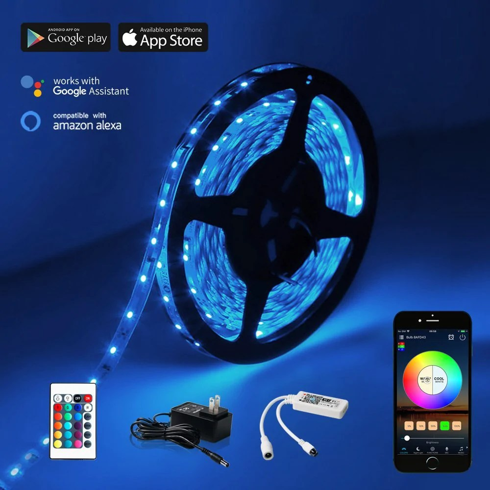 ??led Wifi Led Strip Light W Remote