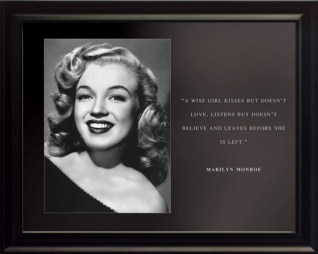 Marilyn Monroe Poster Marilyn Monroe Photo Picture Poster Or Framed Famous Quote