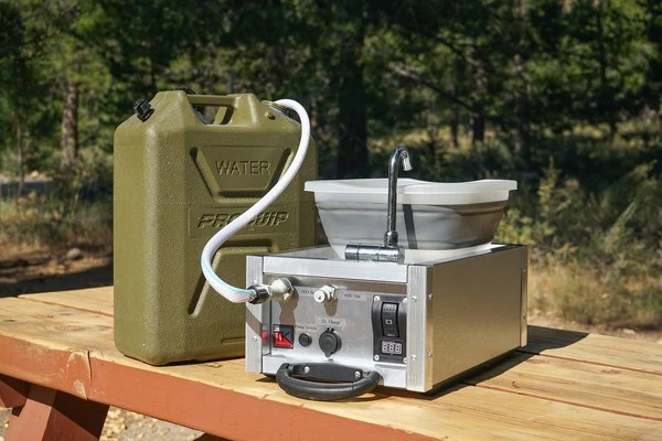 The Water Boy Camping Sink W Electric Pump Trail Kitchens