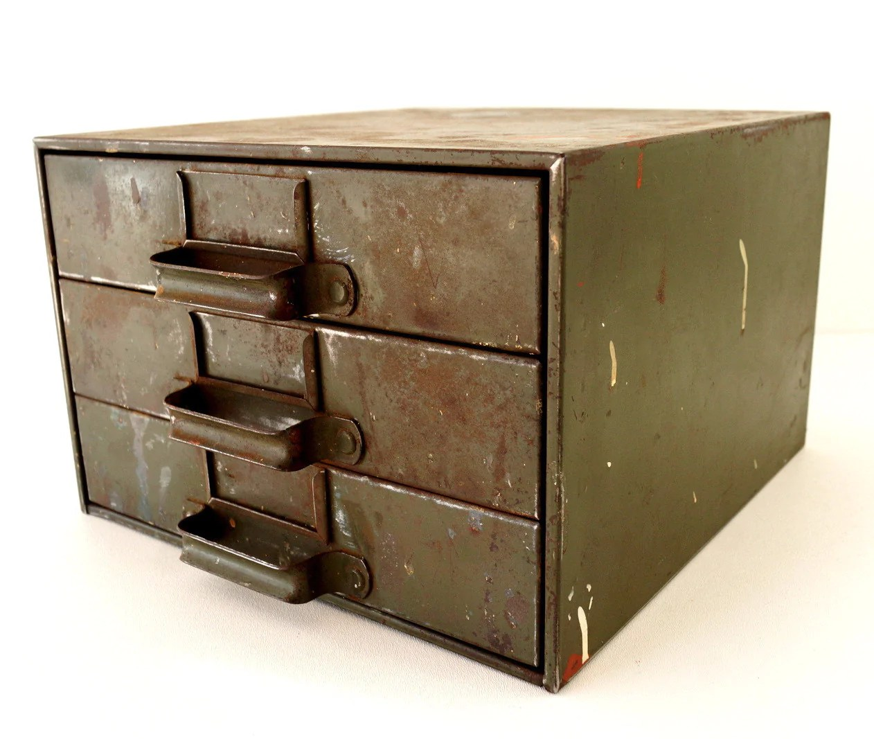 Industrial Vintage Vintage Industrial Hardware Cabinet Parts Bin With 3 Drawers C 1940s