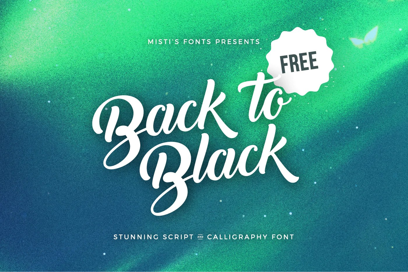 Back To Black Free Script Calligraphy Font Creativebooster