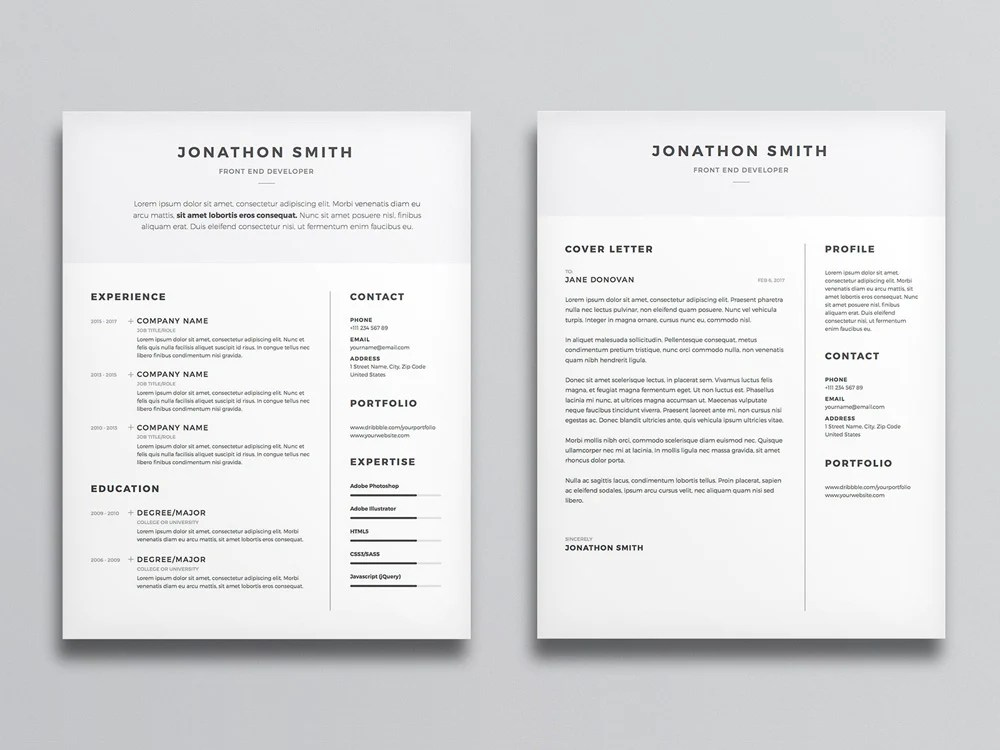 best minimalist cv designs