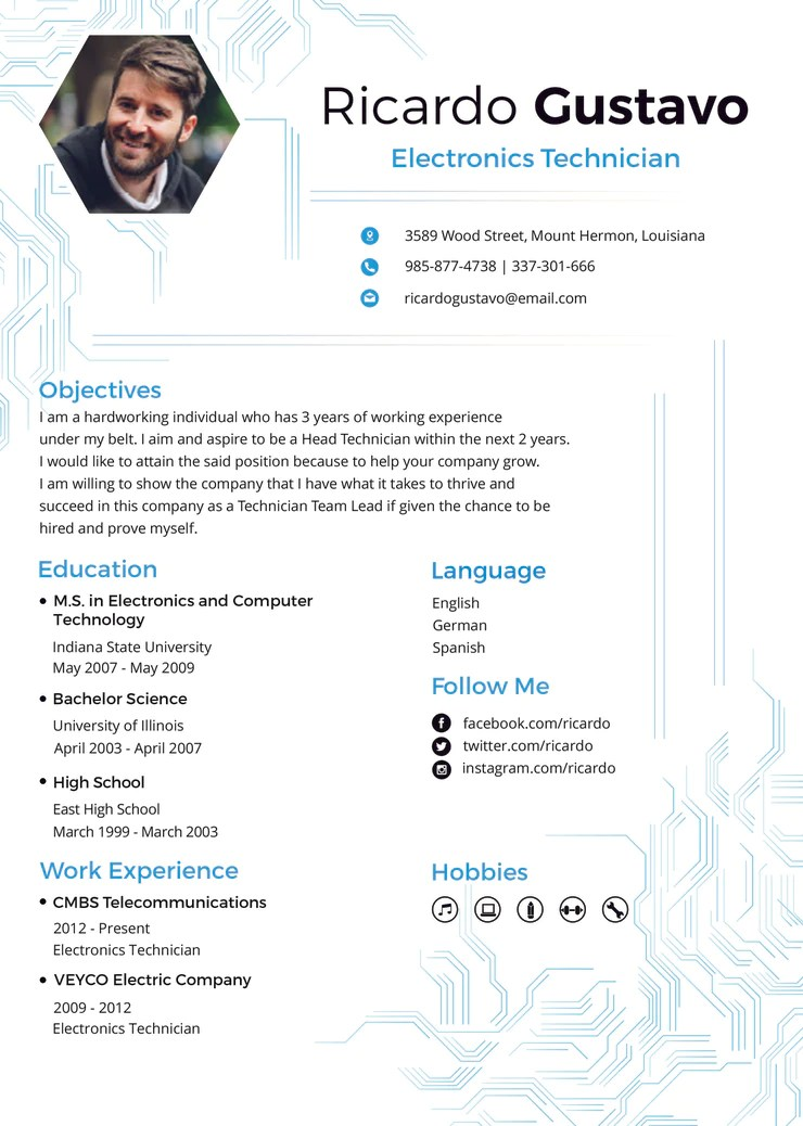 how to edit resume template on microsoft word