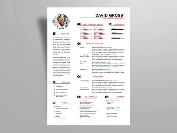 indesign logo template cv