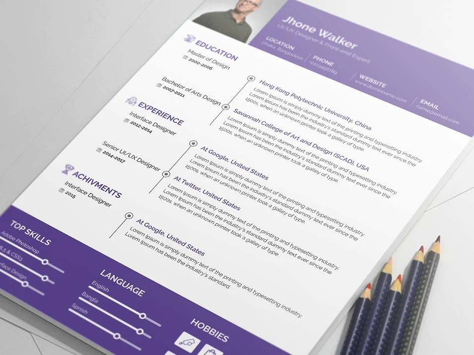 cv template indesin free