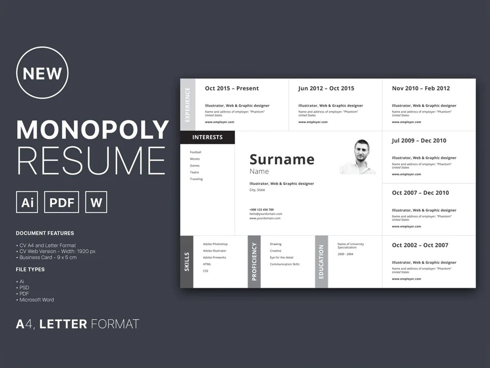 resume typesetting