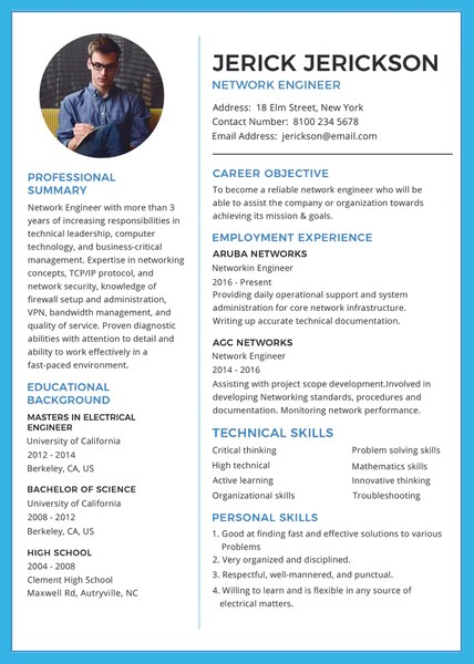 engineer cv photoshop template