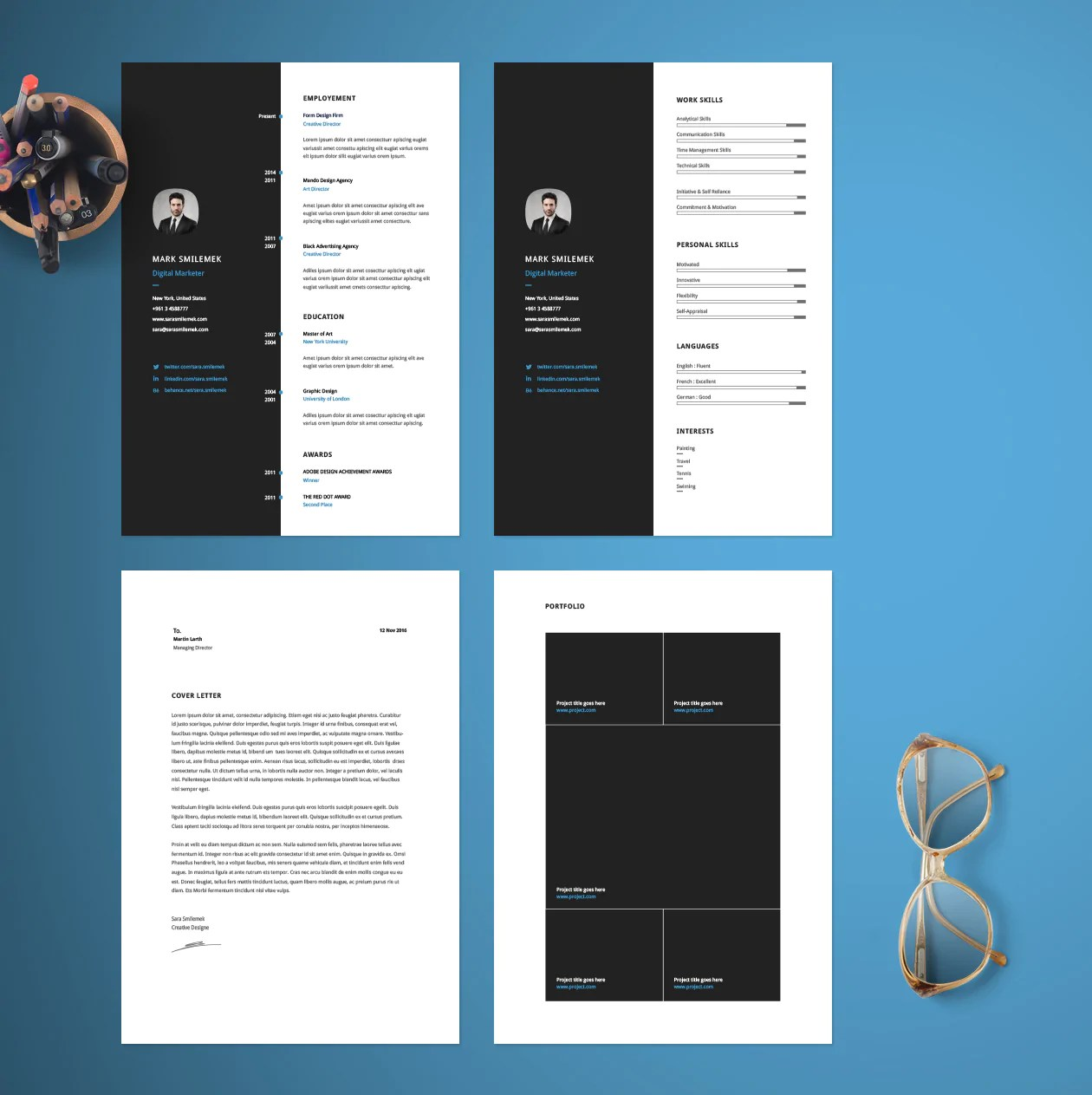 resume template for pages macbook