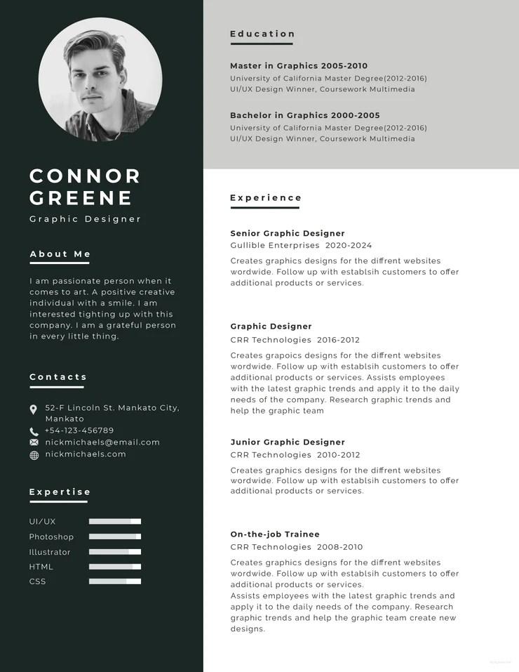 creative resume templates docx free