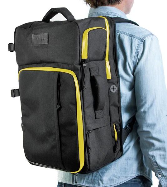 Progo Carry On Backpack Black Yellow Progogear