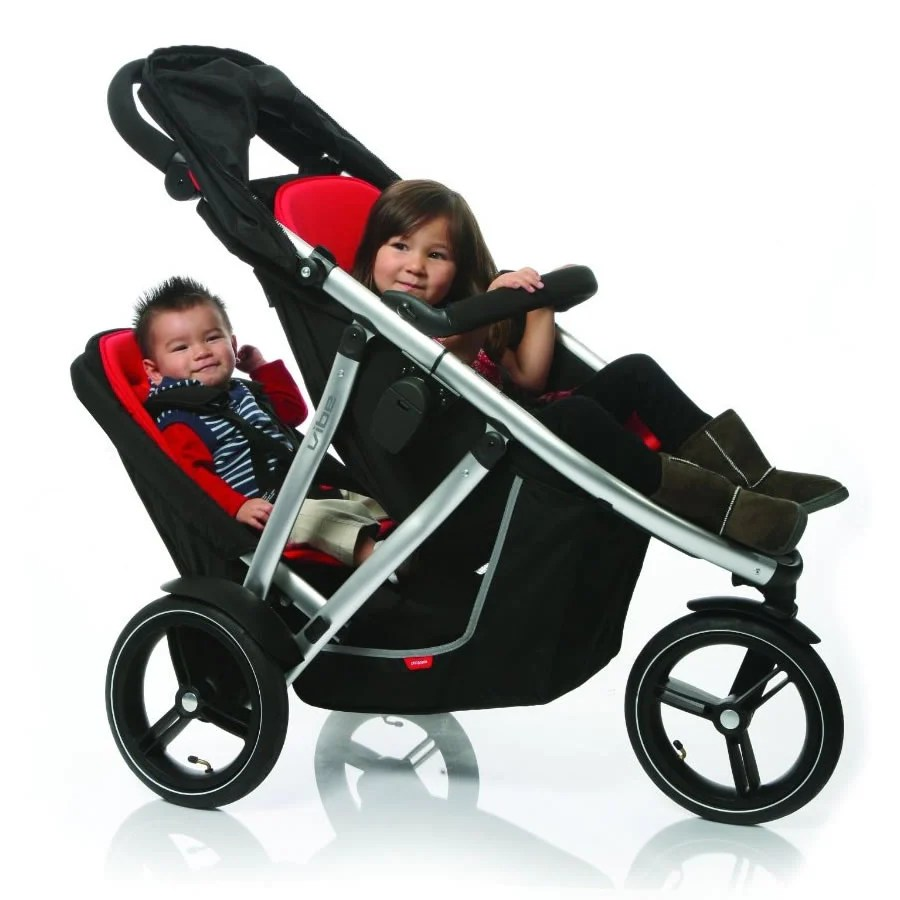 Phil And Teds Double Buggy Vibe Phil Teds Vibe Double Buggy Kit In Red