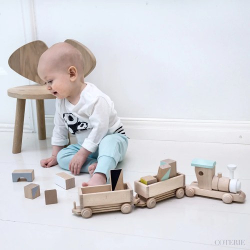Medium Of Wooden Train Set