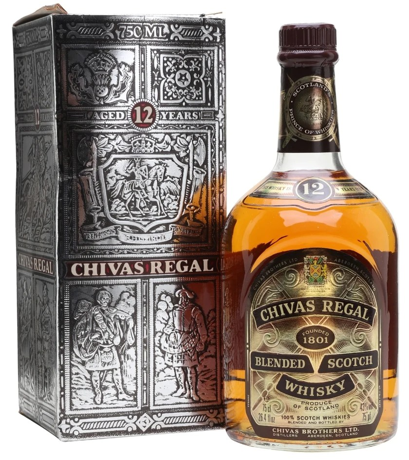 Vintage Metallregal Whisky - Rare Vintage Chivas Regal 12 Year Whisky (750ml) - 1980's Bottling For Sale In South Africa (id:330014063)