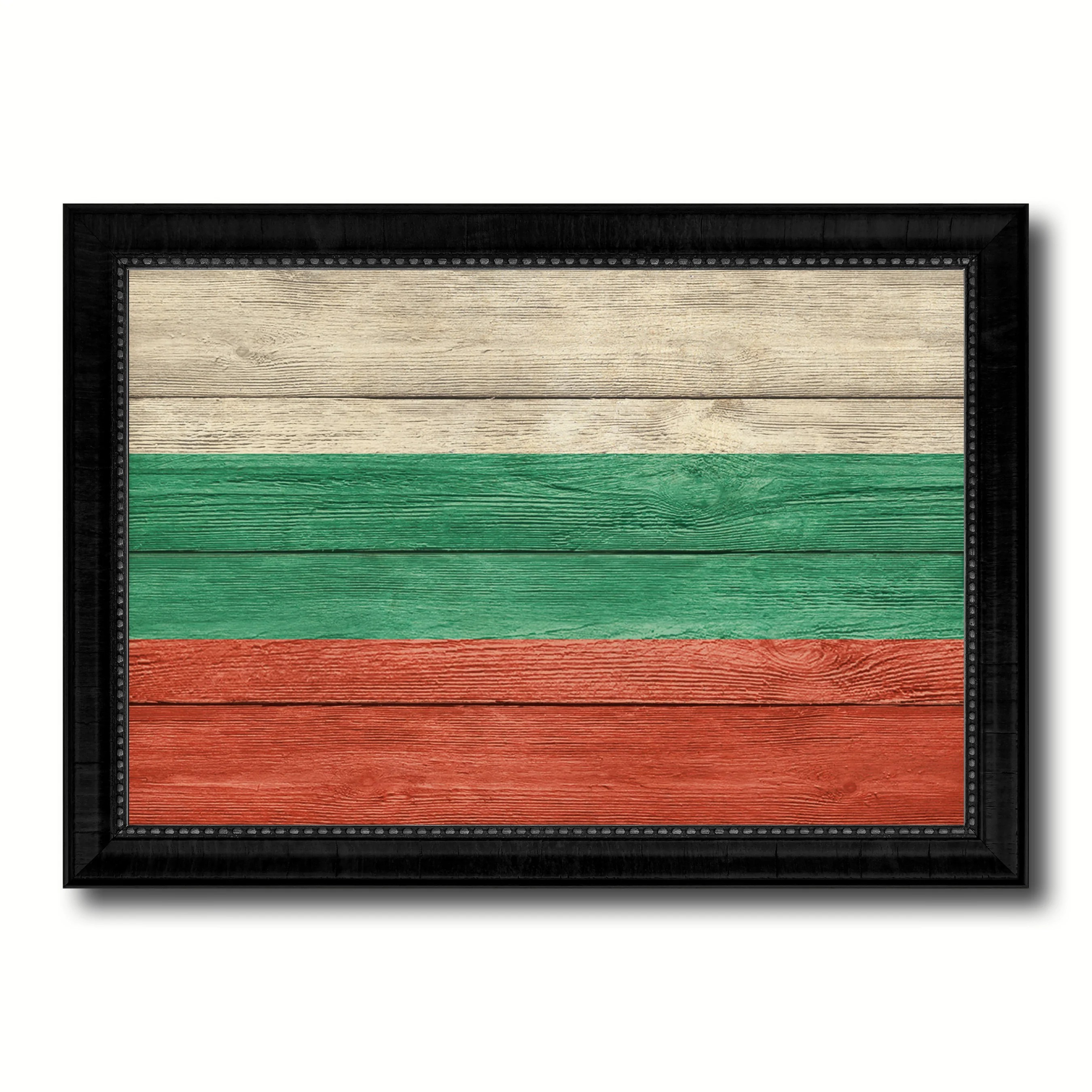 Home Decoration Collection Bulgaria Country Flag Texture Canvas Print With Black Picture Frame Home Decor Wall Art Decoration Collection Gift Ideas