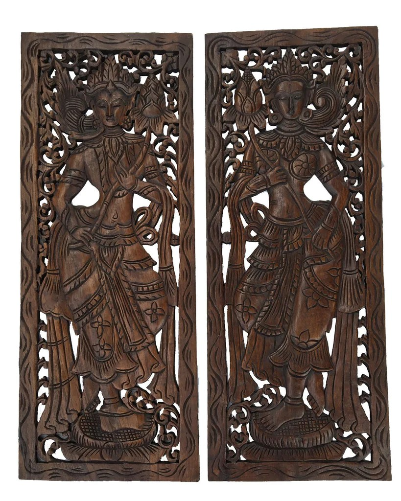 Wall Decor Wooden Large Carved Wood Wall Decor 31