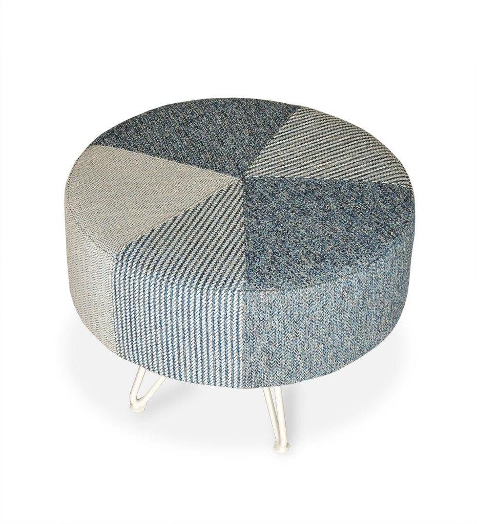 Pump Pouf Large White Frame Jimmiz Combination Juniper House