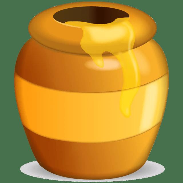 Cute Bees Wallpaper Download Honey Pot Emoji Icon Emoji Island