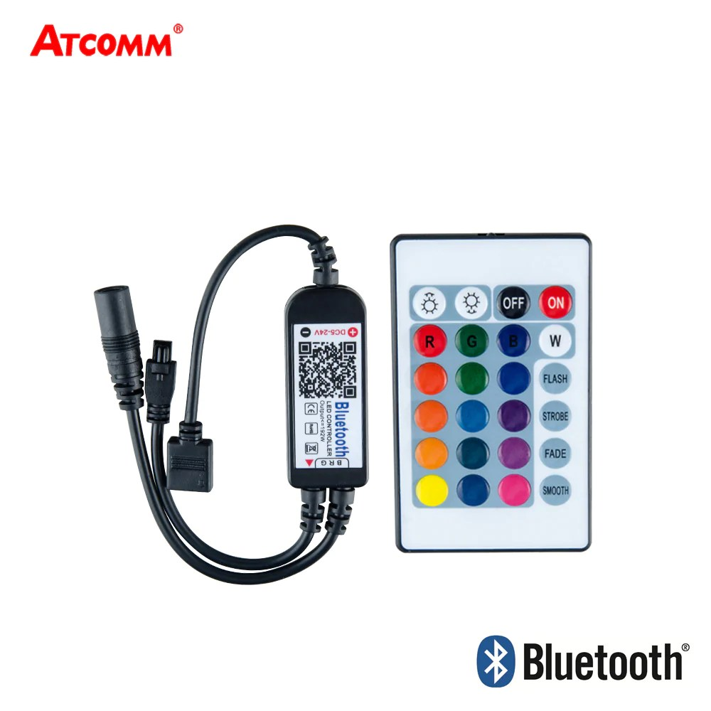 Rgb Dimmer Ice Led Rgb Bt Bluetooth Dimmer With 24key Ir Remote Controller Android Ios 5v 24v