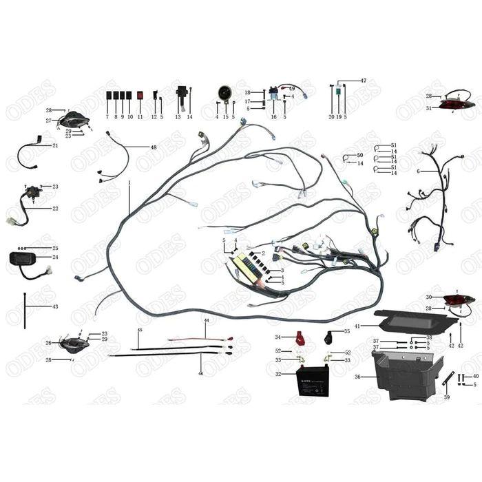 odes 800cc dominator wiring diagram