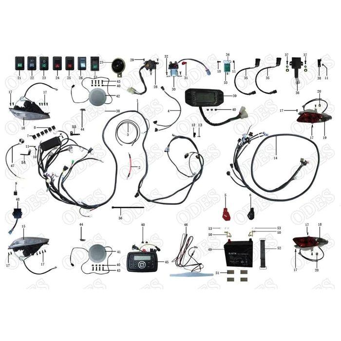 odes 400 4x4 wiring diagram