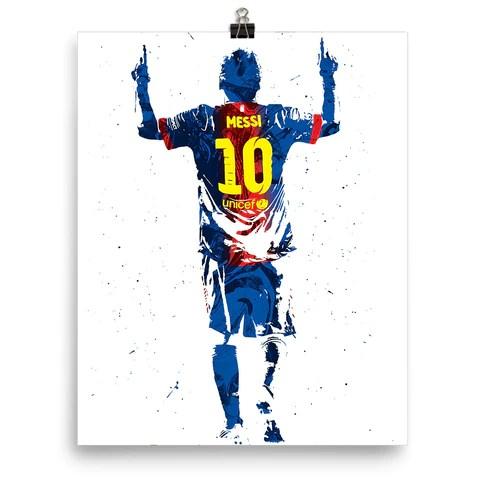 Wallpaper Of Soccer Quotes Custom Lionel Messi Futbol Barcelona Poster Pixartsy
