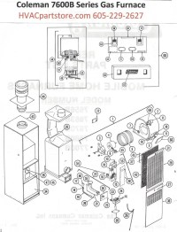 7663B856 Coleman Gas Furnace Parts  HVACpartstore